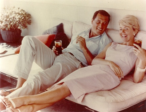 Doris loved working with Rock Hudson, and he would often come to her Malibu home to just kick back and relax.